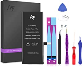 AY Battery for iPhone 7 Plus 3450mAh Capacity Replacement Battery with Complete Repair Tools Kit, Adhesive, and Instructio...