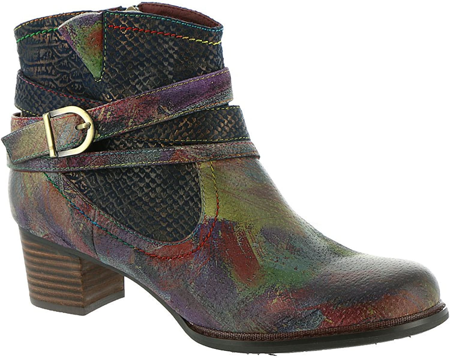 Women's L'Artiste by Spring Step, Shazzam Ankle Boots NAVY MULTI 3.8 M