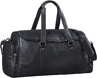 """STILORD Myles"""" Vintage Reisetasche Herren Leder Weekender zum Umhängen Overnight Duffle Bag Großes Reisegepäck XL echtes Rindsleder, Farbe:schwarz"""