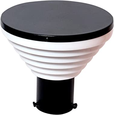 Genree Stair Design Metal and Unbreakable PVC Gate and Garden Light for Outdoor (Black and Milky)