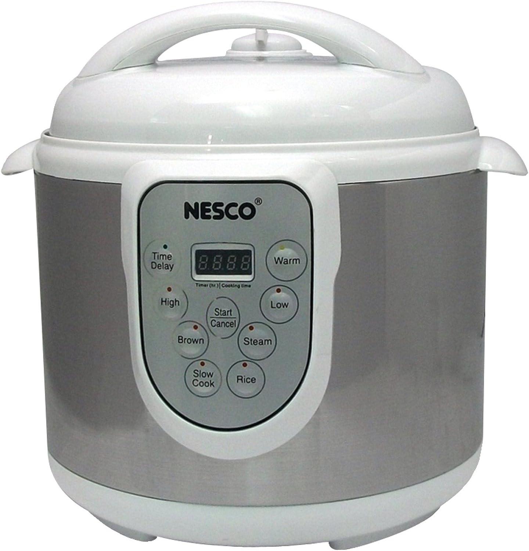 Nesco PC6-14 4-in-1 Digital Pressure Cooker, 6-Quart