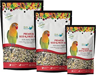 BirdsNature Premium Seed & Fruit Mix for Small Birds , Parakeets, Budgies, Parrotlets, Canaries & Finches, Love Birds ,Sma...