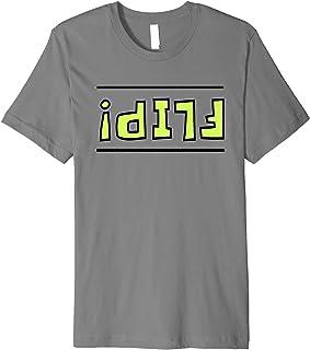Retro Letters FLIP Upside Down Gamer Kids Boys Merch Shirt Premium T-Shirt