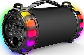 Matata MTMP110 True 15 Watt Portable Wireless Bluetooth Speaker with Karaoke 2 Wired Mic, Multi Connectivity - Dual Blueto...