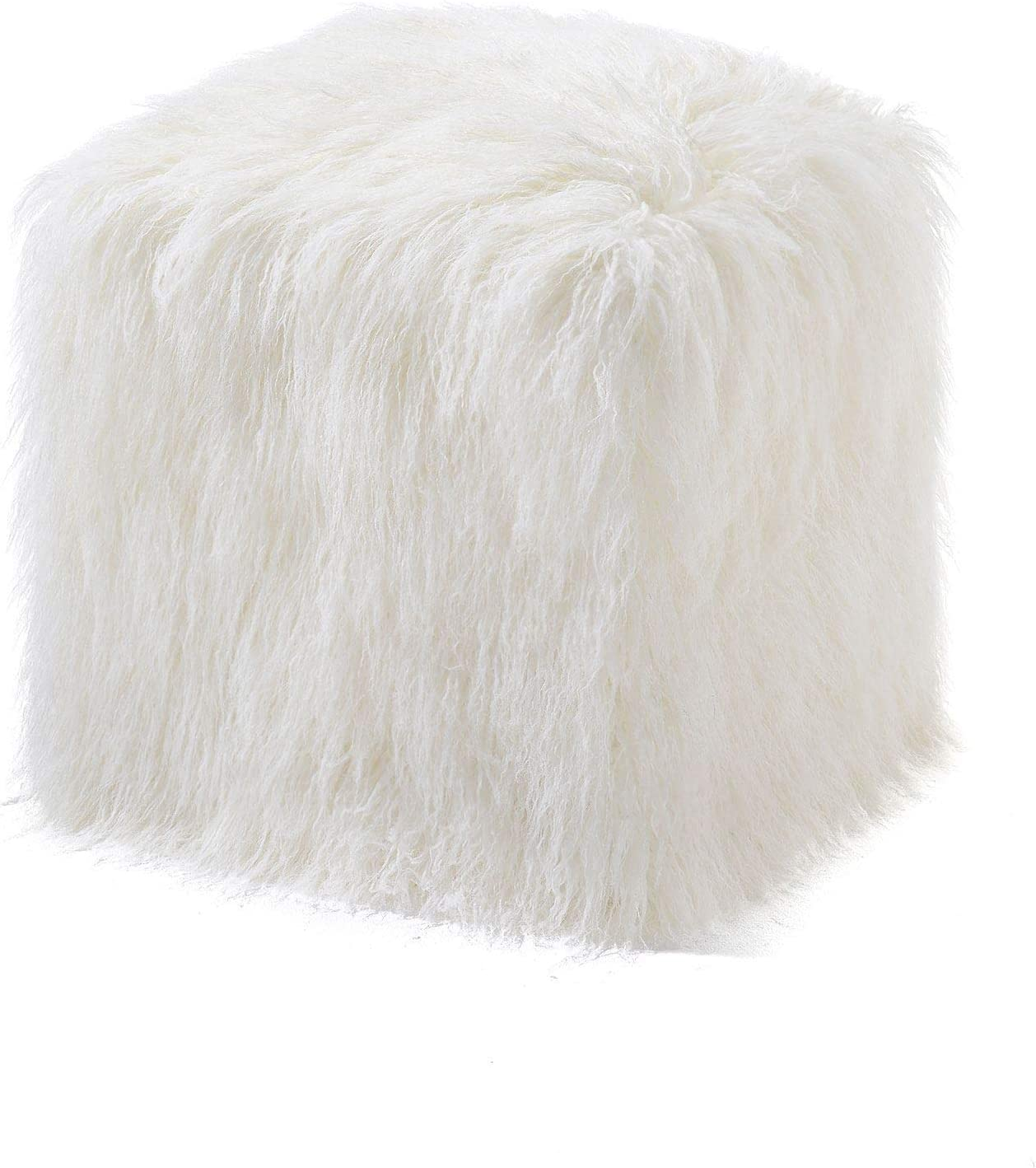 Ivory Tibetan Many popular brands Lamb Faux Pouf Fur Award-winning store