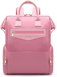 Tzowla Laptop Backpack College School Travel Business Book Doctor Shopping Bag Light Weight Casual Daypack for Women Men Girls Boys Student Fit 14 inch Compter Netbook-M2-Pink