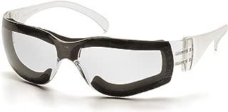 Pyramex Intruder Safety Eyewear, Clear Frame w/Full Foam Padding, Clear-Hardcoated Anti-Fog Lens
