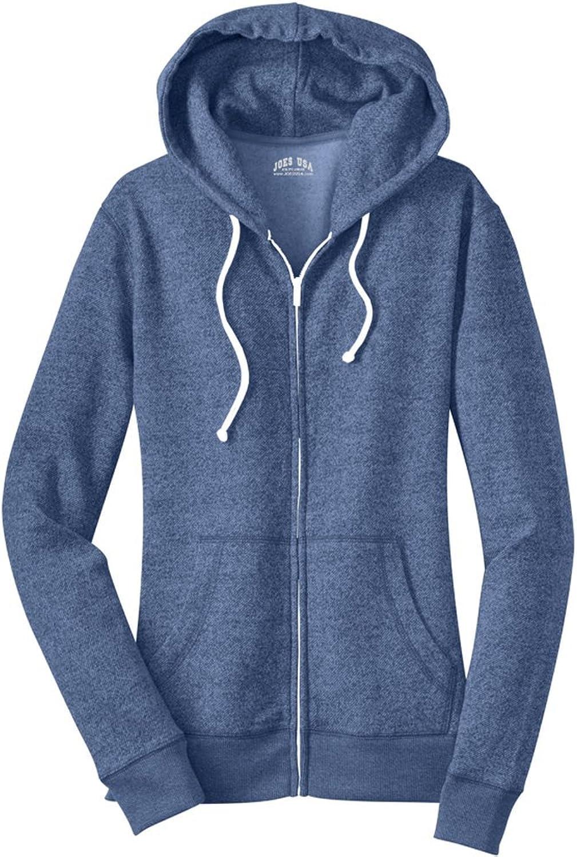 Joe's USA  Young Ladies Marled Fleece FullZip Hoodies. Juniors Sizes  XS4XL
