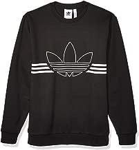 adidas Originals Men's Outline Fleece Crewneck Sweatshirt