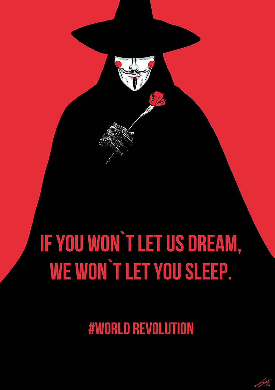 Black Creations V For Vendetta 4 Movie Poster Canvas Picture Art Print Premium Quality A0 A1 A2 A3 A4 (A0 Canvas (30 40))