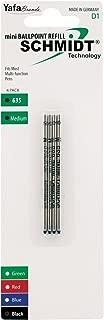 Schmidt 635 Mini D1 Ballpoint Refill Medium, 4 Pack, Black (SC58149)