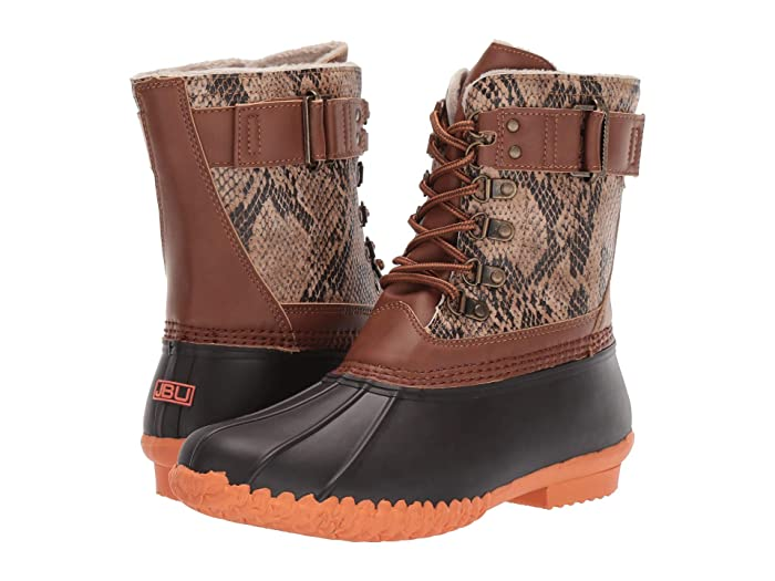 JBU  Calgary (Brown Python/Coral) Womens Shoes