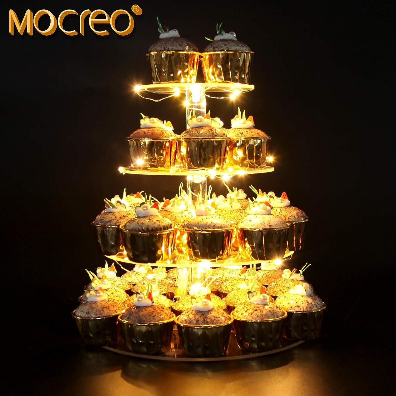 夜間イサカ聴覚MOCREO ケーキスタンド 4段 アクリル 結婚式 誕生日 パーティー用 ディスプレイスタンド