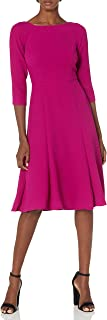 Eliza J womens 3/4 Sleeve Fit and Flare Dress Dress