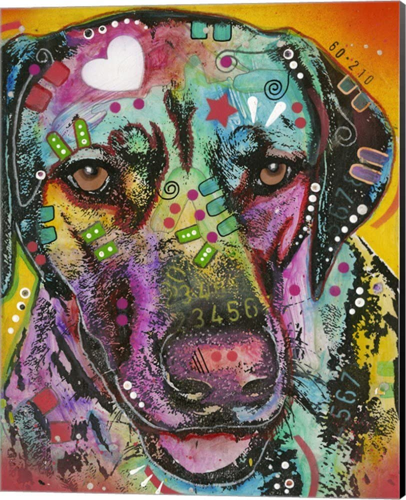 Brown Eyed Dog by Selling Dean Russo Max 63% OFF Picture Art Wall Canvas Museum Wra