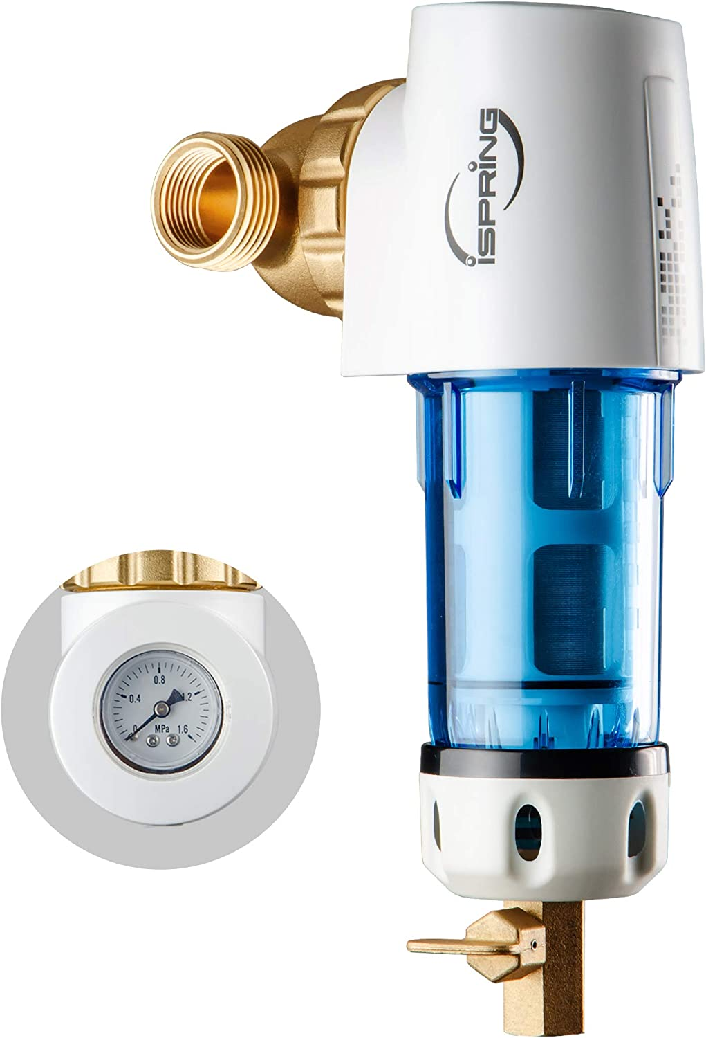 iSpring WSP50GR SALENEW very popular Reusable Spin Down Filter Micr Water 50 Max 76% OFF Sediment