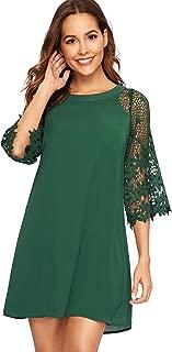 Best dark green dress with sleeves Reviews