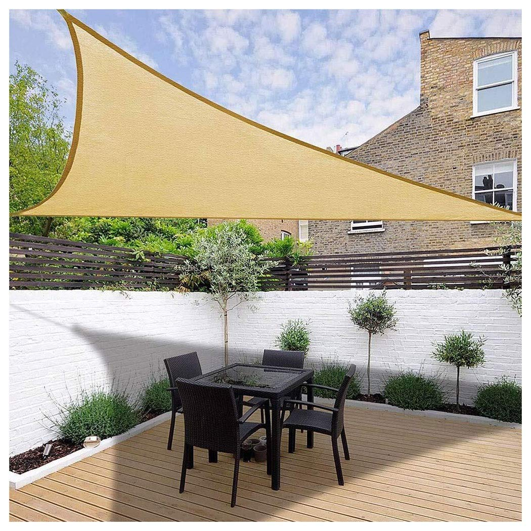 Sombra Al Aire Libre Vela Triángulo Velas de Sol Sombra 185 gsm Más Gruesa 95% UV Sombra de Protección Solar para La Cubierta Patio Pérgola Patio Trasero Actividades Toldo, 3x3x3M Múltiples Tamaños: