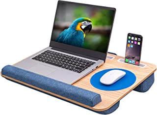 DERIMIZZ Oversized Lap Desk with Cushion - Home Office Laptop Lap Desk Fits up to 17 inch Laptops, Built-in Mouse Pad and ...
