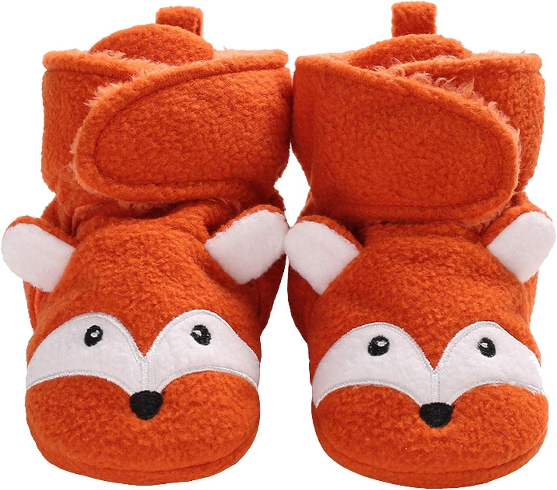 Baby Girls Boys Cozy Fleece Booties Elephent Fox Duck Panda Sheep Design Newborn Shoes Infant Footwear