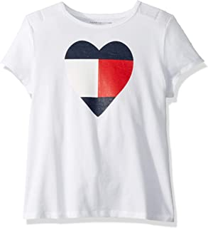Tommy Hilfiger Adaptive Girls' Big T Shirt Magnetic Buttons at Shoulders