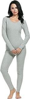Women's Long Thermal Underwear Fleece Lined Winter Base Layering Set