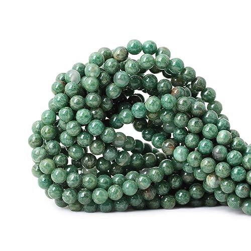 "16/""  Strands 6mm Natural GOLDEN JADE Gemstone Beads TWO 2"