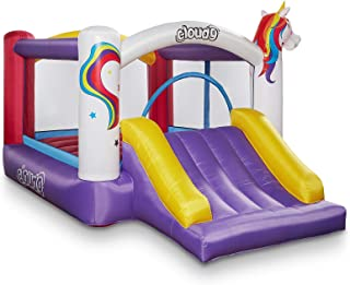 Cloud 9 Inflatable Bounce House with Slide and Blower - Unicorn Theme