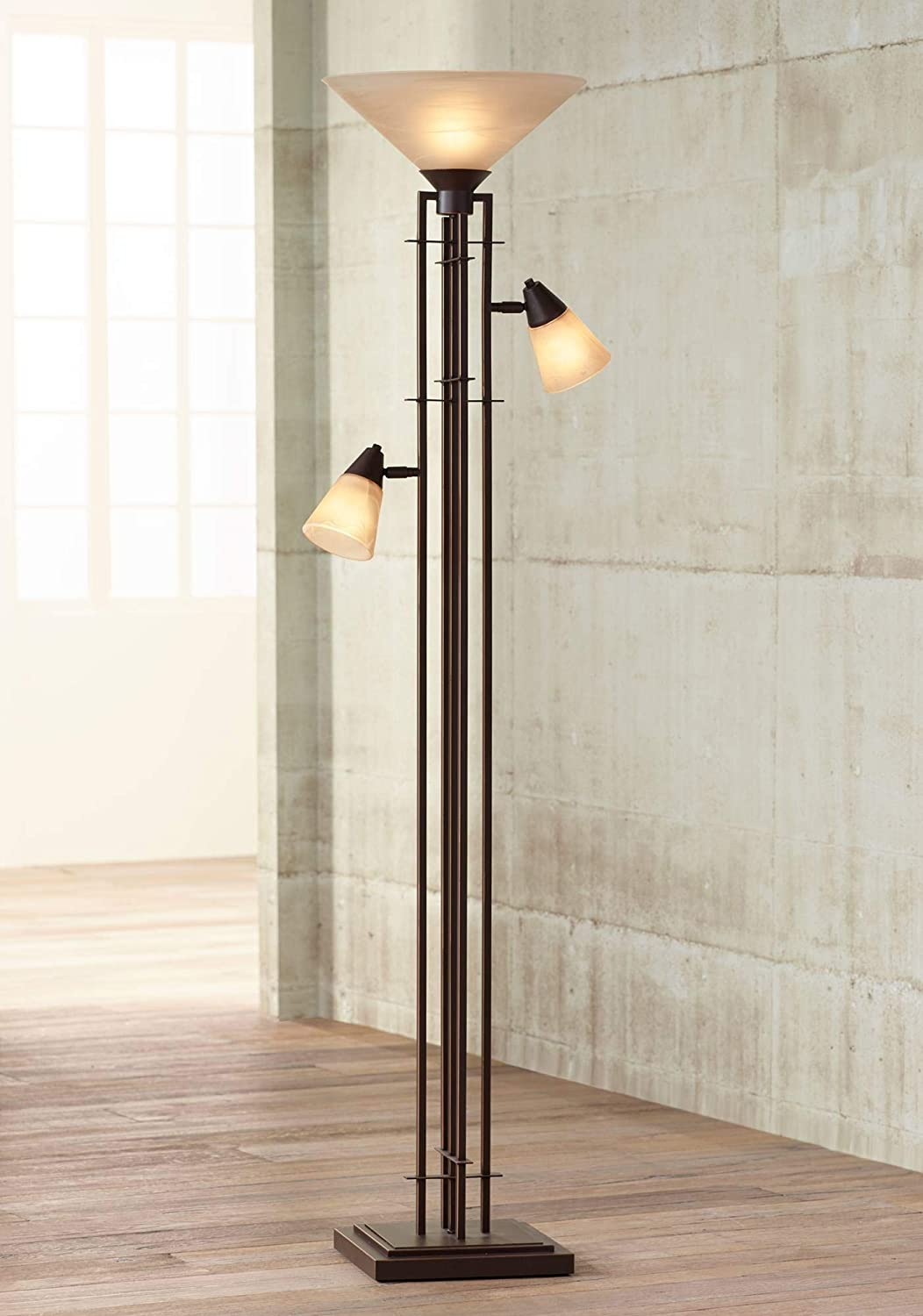 Metro Mission Spring new work one after another Torchiere Lamp with Lights Bronze Limited Special Price G Side Champagne