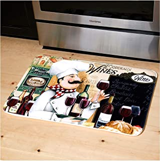 "Relax Series Series 20""x30"" Antifatigue Kitchen Mats (Vino Chef)"