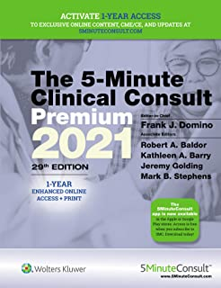 5-Minute Clinical Consult 2021 Premium: 1-Year Enhanced Online Access + Print
