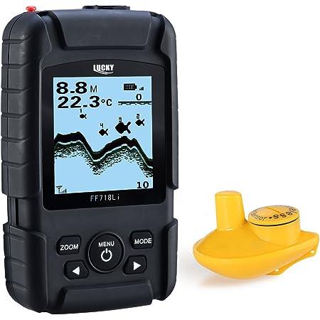 LUCKY Buscador de Peces Real Rastreador de Peces inalámbrico Monitor Sonar Buscador de Peces Sonar Peces Sonar