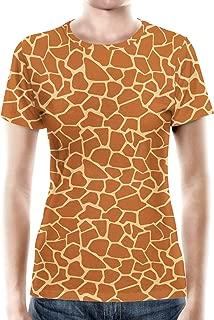 Rainbow Rules Giraffe Print Women Cotton Blend T-Shirt