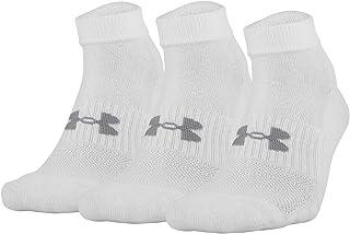 Under Armour, Calcetines de algodón de corte bajo para adultos, 3 pares