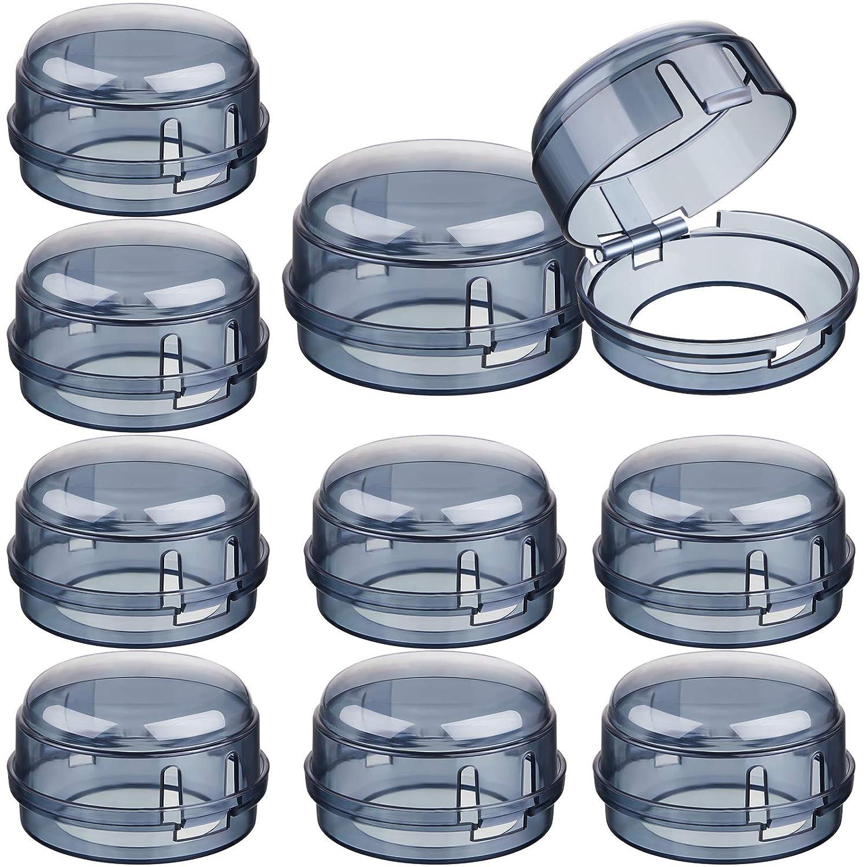 10 Pieces Stove Knob Covers Kitchen Stove Gas Knob Covers Safety Stove Knob Covers for Kids Baby Toddler (Black, 4 cm Hole)