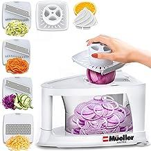 Mueller Spiral-Ultra 4-Blade Spiralizer, Vegetable Spiral Slicer, Heavy Duty, Ultimate Veggie Pasta Maker for Low Carb/Paleo/Gluten-Free Meals