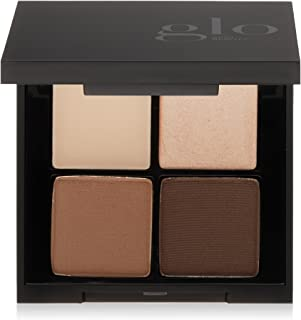 Glo Skin Beauty Brow Quad | Eyebrow Filler Powder Palette with Wax and Highlighter, 2 Shades | Cruelty Free