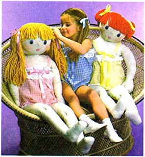 Simplicity Pattern 8967 35-36 and 44-45 Inch Doll with Camisole (Fit's Child's Size 4)