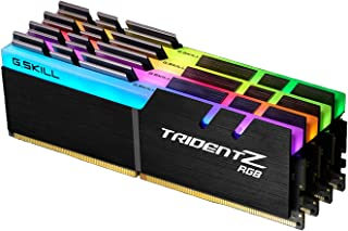 G.SKILL F4-3000C16Q-32GTZR 32 GB (8 GB x 4) Trident Z R GB Series DDR4 3000 MHz PC4-24000 CL16 Dual Channel Memory Kit - Black with full length RGB LED light bar