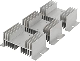 3 Pcs Aluminum Alloy Heat Sink 20A-100A for Solid State Relay SSR Radiator Temperature Control Module 125mm x 50mm x 70mm