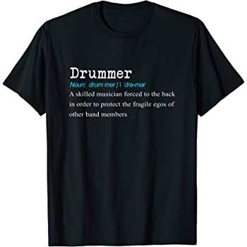 Music Band Birthday Present Gift Funny Mens T-Shirt Drummers Bang The Best