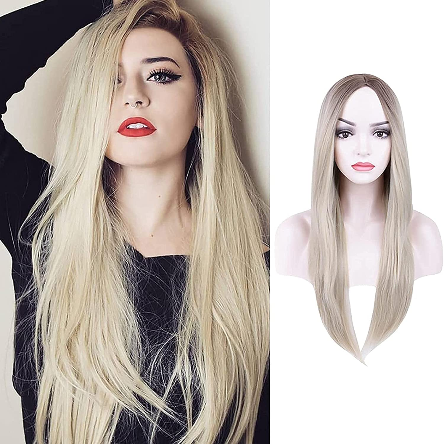 Cosplay Platinum Blonde Wigs Directly managed store depot Synthetic Long Straigh Light