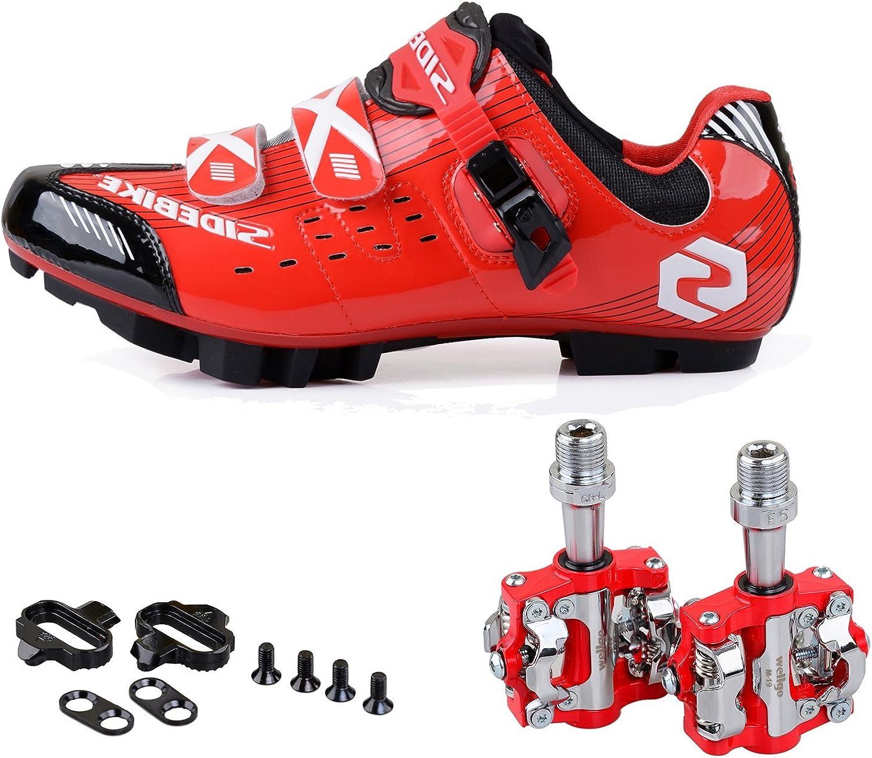 KUKOME Men Women Mountain Bike Bicycle Cycling shoes + Pedals & Cleats