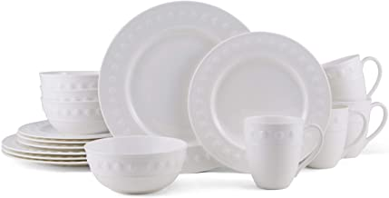 Mikasa Eden Chip Resistant 16-Piece Dinnerware Set, Service For 4, White