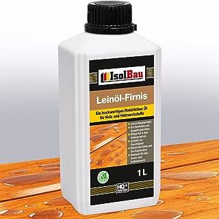 1 Liter Doppelt Gekocht NATUR Holzschutz LEINÖL- FIRNIS Holzöl Leinölfirnis Holz Möbel Lasur Holzschutz Holzpflege Harzfrei Lackfirnis Harzfrei