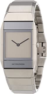 Jacob Jensen - Sapphire 562 - Reloj de Mujer de Cuarzo, Correa de Acero Inoxidable Color Plata