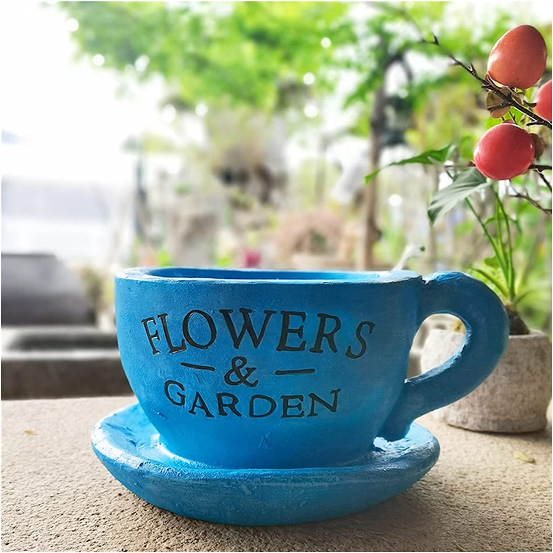 ZHXQ Garden Soldering Sculpture Creative Coffee Topics on TV C Planter Cup Resin
