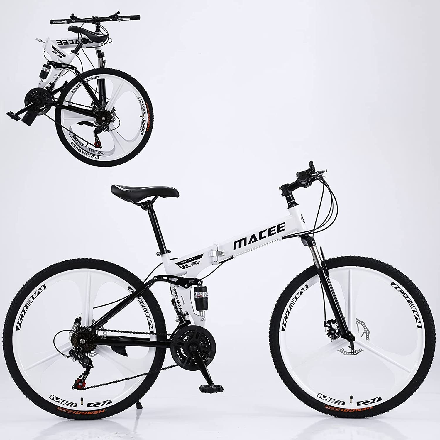 Popular product Adult Bike 24 Inch Mountain 21 Gorgeous for Speed Foldable Adul