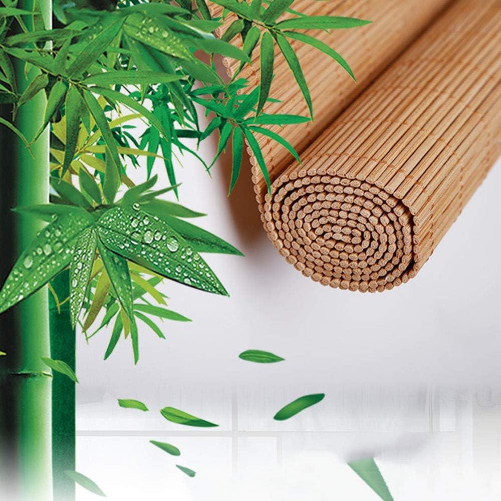 Bamboo Blinds, Natural Roman Roller Shades For Window/Door/Patio, Sun Shade Curtain Balcony Decoration, Customizable 110x112cm/43x44in