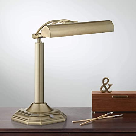 Brass and Marble Piano Lamp Desk Lamp Polished Brass Piano  BrassBankers Lamp adjustable lampretro mad man desk lamp
